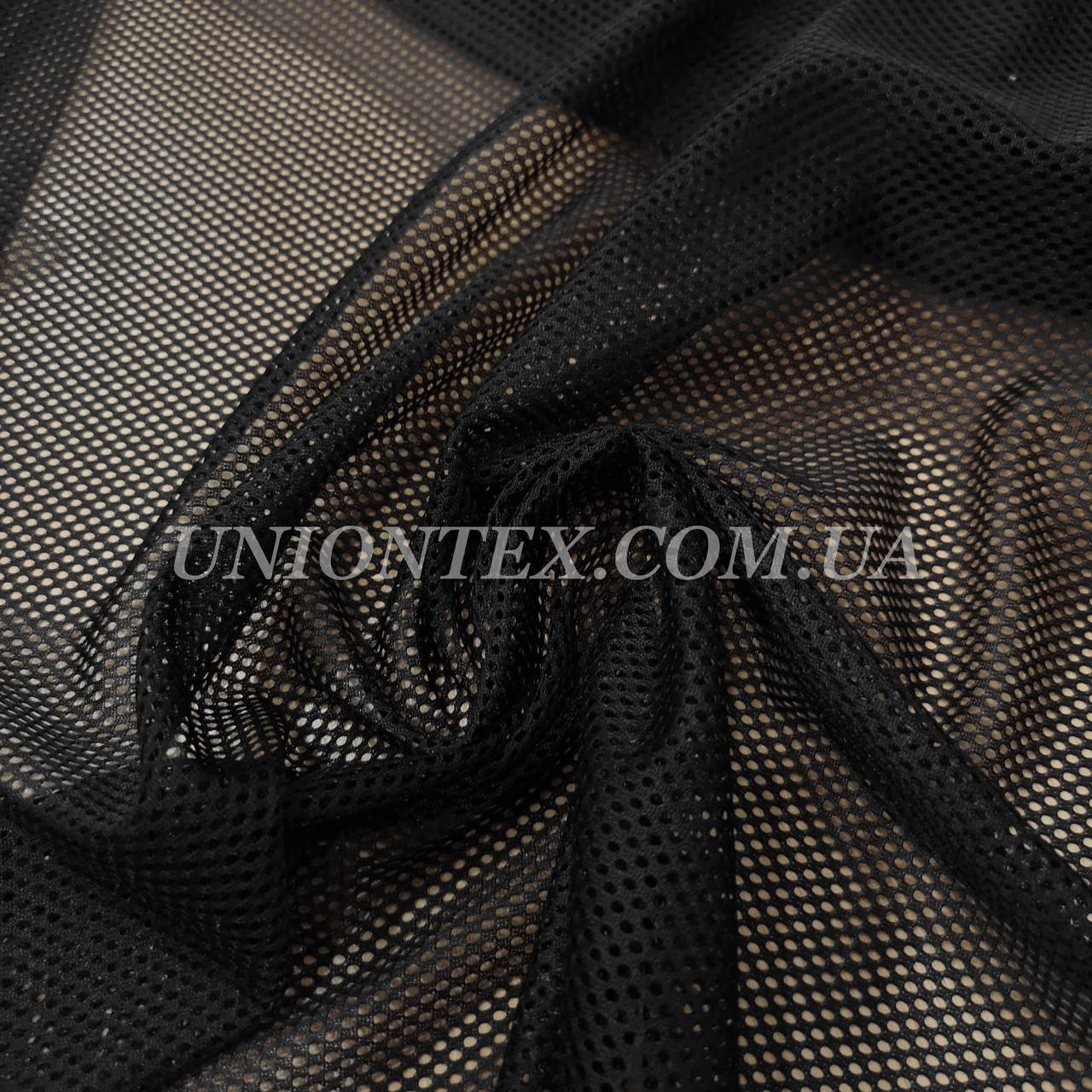 Ткань сетка спорт черная
