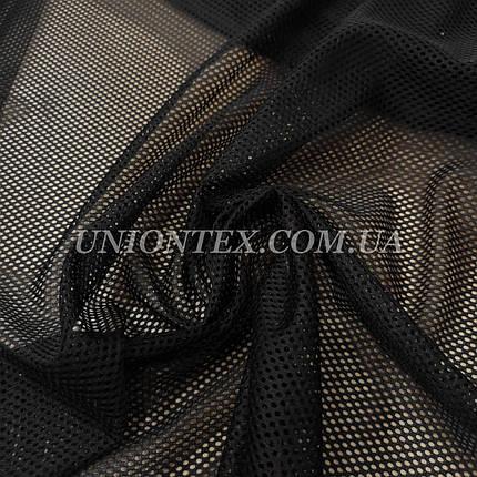 Ткань сетка спорт черная, фото 2
