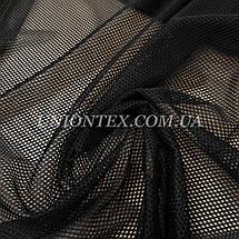 Ткань сетка спорт черная, фото 3