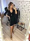 """Красивое женское платье из бархата на запах """"Paris"""", фото 7"""