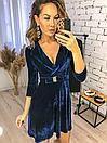 """Красивое женское платье из бархата на запах """"Paris"""", фото 6"""