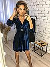 """Красивое женское платье из бархата на запах """"Paris"""", фото 5"""