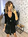 """Красивое женское платье из бархата на запах """"Paris"""", фото 4"""