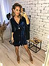 """Красивое женское платье из бархата на запах """"Paris"""", фото 2"""
