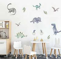 Наклейка / стикер на стену Набор Динозавров