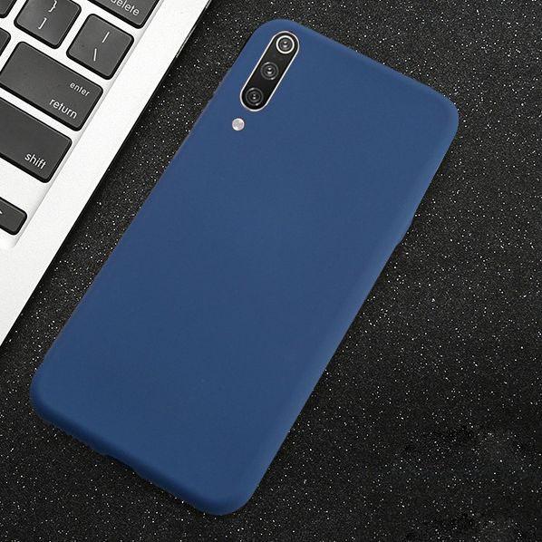 Силиконовый чехол Xiaomi Redmi Note 7 / Pro с микрофиброй Liquid Silicon Case Синий