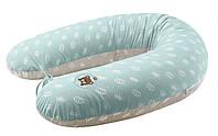 Подушка для кормления и поддержки ребенка Короны мята 170х30 Econom Ideia