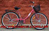 """Велосипед АИСТ 28-245 (толстая рама) женский 28"""" с корзиной."""