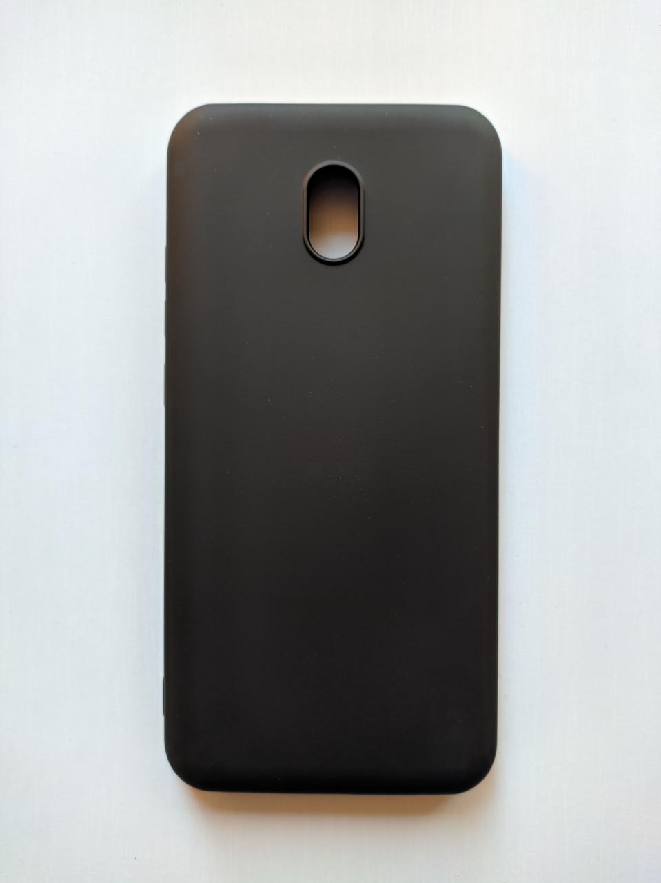 Силиконовый чехол Xiaomi Redmi 8A с микрофиброй Liquid Silicon Case