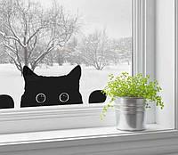 Наклейка / стикер на стену Черная Кошка