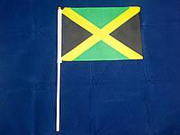 Флажок Ямайки 14х21см на пластиковом флагштоке