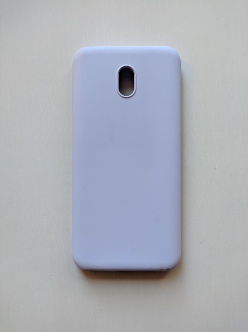 Силиконовый чехол Xiaomi Redmi 8A с микрофиброй Liquid Silicon Case Фиолетовый