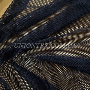 Ткань сетка спорт темно-синяя