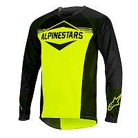 Реглан Alpinestars Mesa Longsleeve Jersey размер L чёрно-жёлтый спортивный мужской