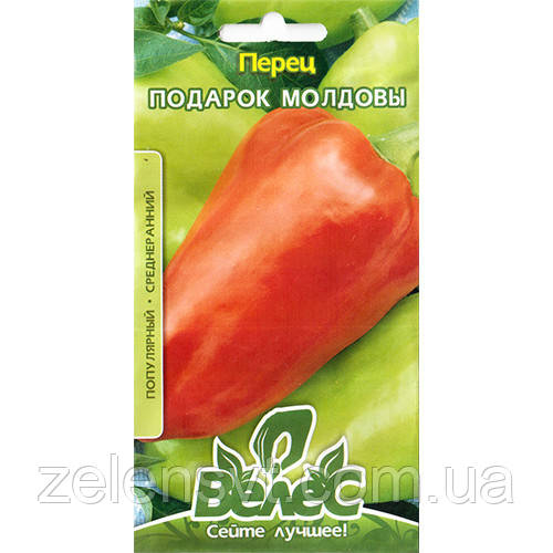 """Насіння перцю солодкого, середньостиглої """"Подарунок Молдови"""" (0,3 г) від ТМ """"Велес"""""""