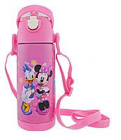 Термос детский с поилкой Disney 350мл  Микки Маус Розовый
