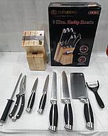 Набор ножей на деревянной подставке Edenberg EB-3612 (9 предметов), фото 1