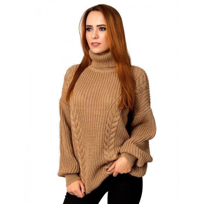 Объемный теплый свитер 44-50 размер