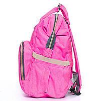 ☛Сумка для мам Maikunitu Mummy Bag Pink рюкзак-органайзер для прогулок вещей бутылочек термокарманы USB, фото 3