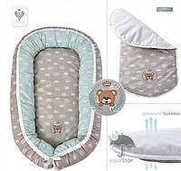Кокон для младенца до 5 мес. 88х60х12 Teddy с матрасом Aqua Stop Ideia