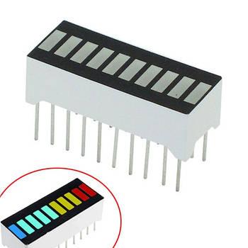 10-сегментный индикатор загрузки Прогресс бар разноцветный Arduino