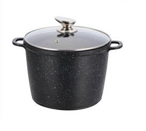 Глубокая кастрюля (казан) с мраморным покрытием 7 литров