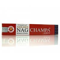 Golden Nag Champa (Золотая Наг Чампа))(Vijashree)(12 шт/уп)(15 гр.)пыльцовые благовония ( 23482)