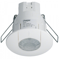 Датчик присутствия 360° DALI / DSI моноблок EE816 Hager внутренний монтаж