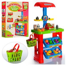 Магазин 661-79 прилавок, касса, продукты, корзина, весы.