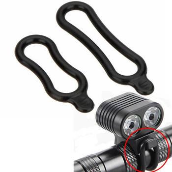 2x Монтажное резиновое кольцо для фонаря, фары велосипеда