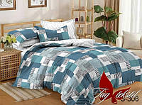 Комплект постельного белья двухспальный с компаньоном S306 ТМ TAG 2-спальный, постельное белье двухспальное