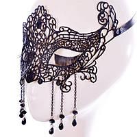 Женская карнавальная маска на глаза с декором
