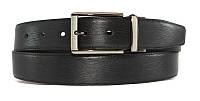 Мужской двухсторонний ремень AP3526 black+ сoffee Ремень брючный кожаный двухсторонний с классической пряжкой, фото 1