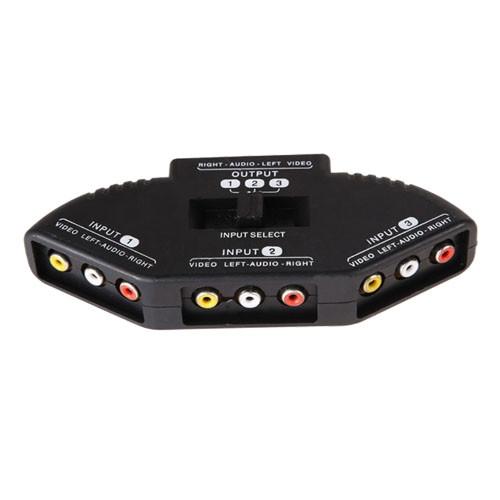 3-канальный RCA свич, селектор AV