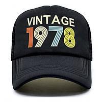 Кепка тракер Vintage 1978 з сіточкою, Унісекс, фото 1