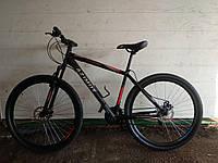 Горный велосипед Azimut Spark 29 GD+ / 19 рама  красно-черный на 85% собран.в коробке
