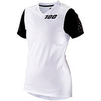 Футболка 100% Women's Ridecamp Jersey White MD женская спортивная белая М