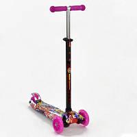 75 Детский трехколесный самокат Best Scooter Maxi Розовый с принтом (AP112120)
