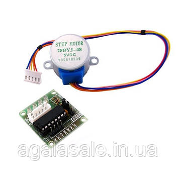 4-фазный шаговый мотор и ULN2003 драйвер, Arduino