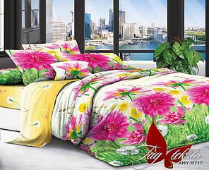 Комплект постельного белья Евро XHY717 ТМ TAG Evro, постельное белье евро