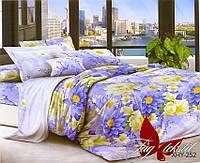 Комплект постельного белья Евро XHY252 ТМ TAG Evro, постельное белье евро