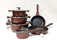 Набор посуды Bohmann burgundy из литого алюминия