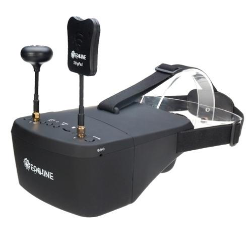"FPV видео шлем очки DVR Diversity 5.8G 40CH RaceBand 5"" Eachine EV800D"