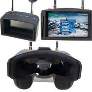 "FPV видео шлем очки DVR Diversity 5.8G 40CH RaceBand 5"" Eachine EV800D, фото 2"