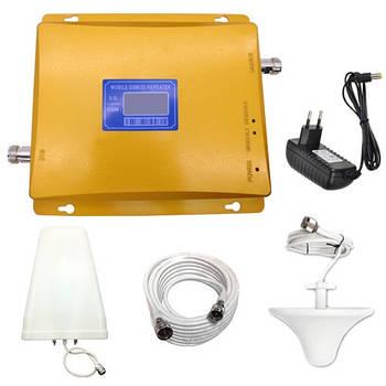 GSM + 3G репитер, усилитель связи 900 МГц и интернета WCDMA 2100 МГц