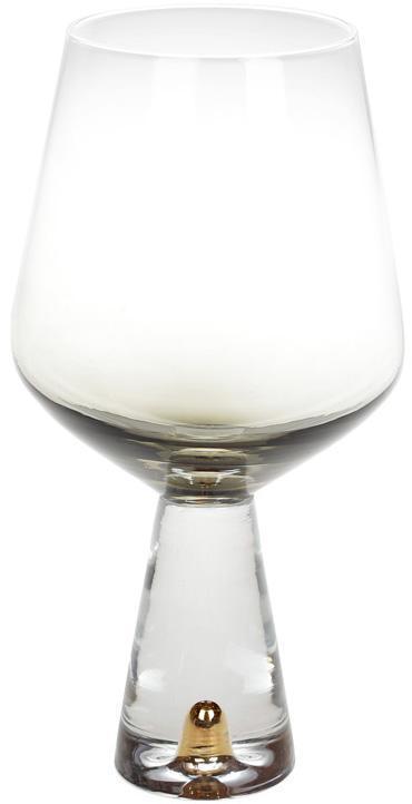 Набор 4 бокала Chic для красного вина 550мл, дымчатый серый