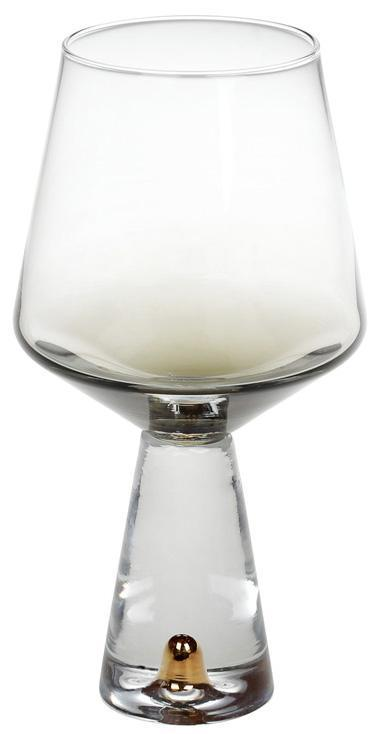 Набор 4 бокала Chic для белого вина 400мл, дымчатый серый