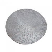 Салфетка Pvc d-38см серебро X109