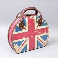 "Шкатулка-чемодан ""Британский флаг"" к/з 28*24*9см TL19883"