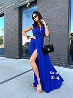 Платье летнее макси с запахом супер софт в расцветках